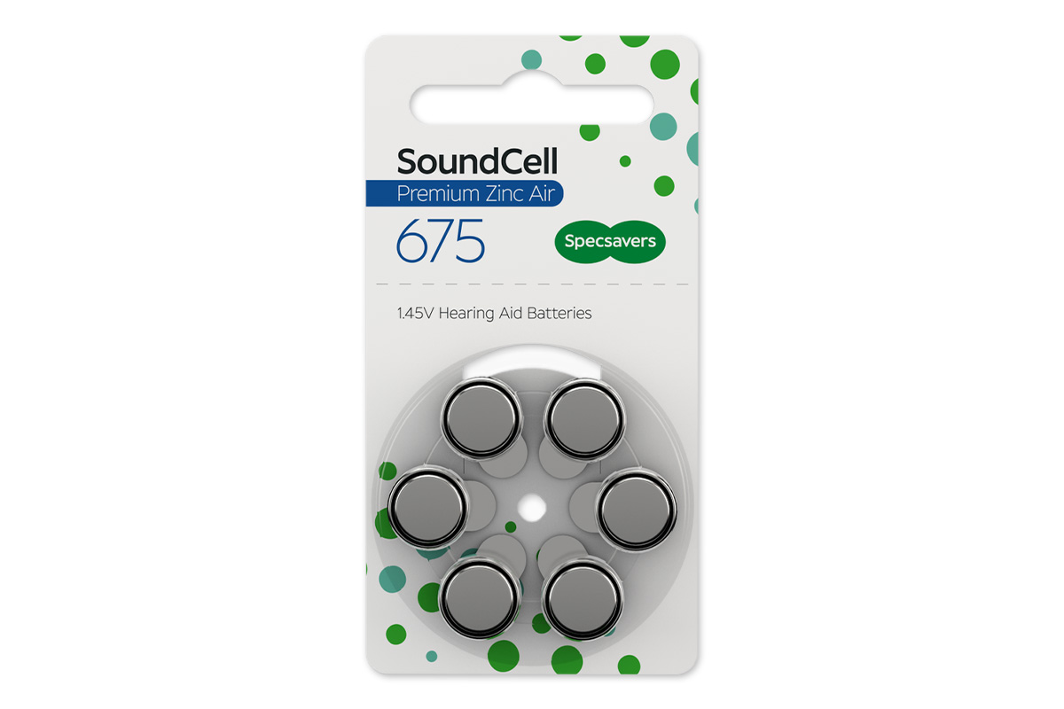 Specsavers premium hearing aid batteries size 675  1.47v quality zinc air pack of 60