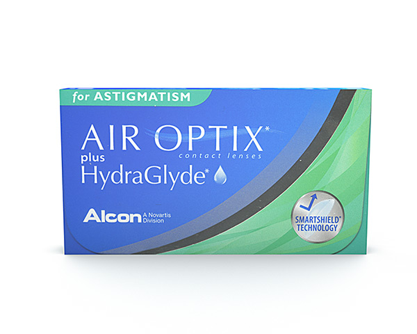 Brand contact lenses - Air Optix plus Hydraglyde for Astigmatism