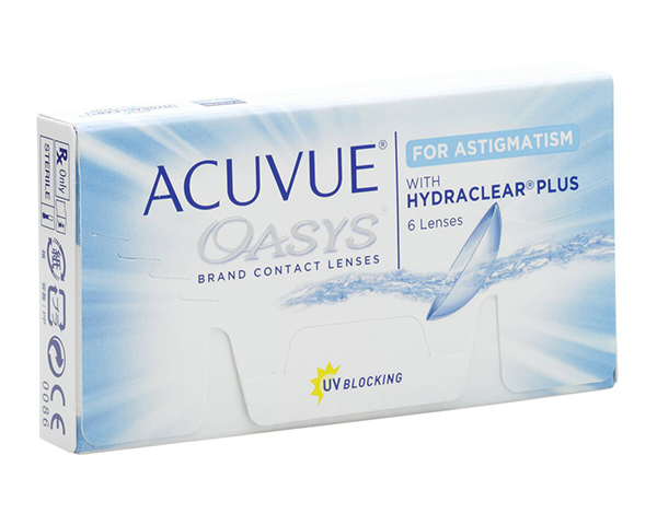 Acuvue contact lenses - Acuvue Oasys for Astigmatism