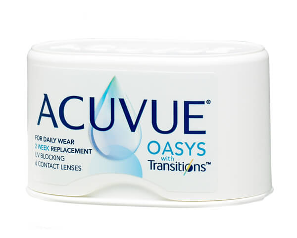 Acuvue contact lenses - Acuvue Oasys with Transitions