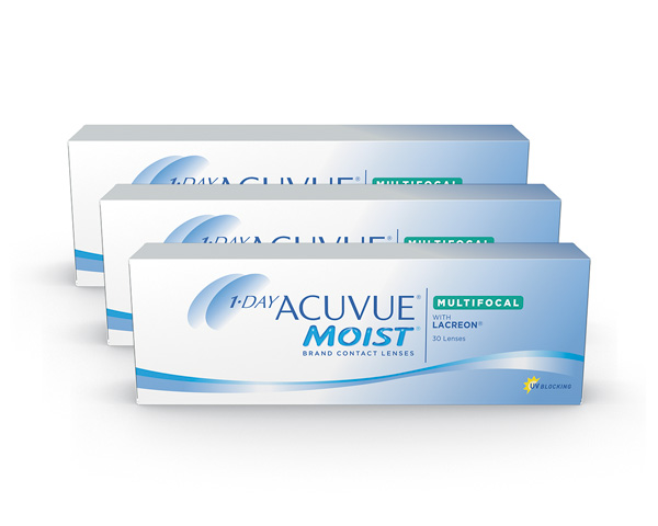 Acuvue contact lenses - Acuvue 1 Day Moist Multifocal 90 Pack