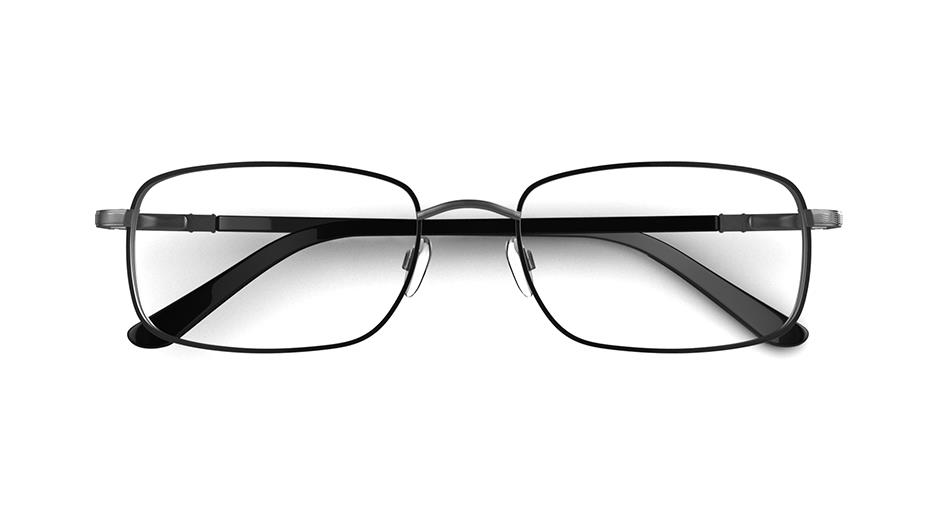 Specsavers Men\'s Glasses HECTOR | Black Metal Frame £89 | Specsavers UK