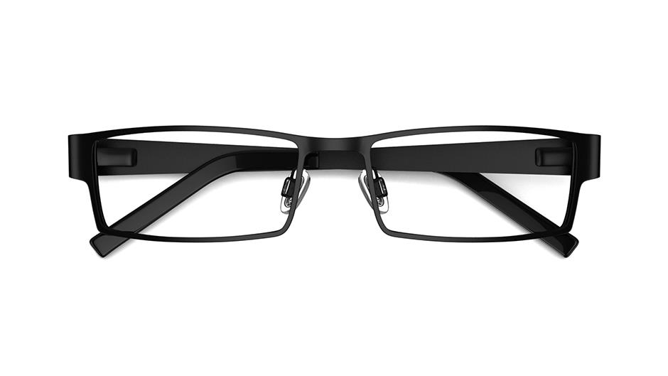 Specsavers Men\'s Glasses DEXTER | Black Square Metal Frame £89 ...