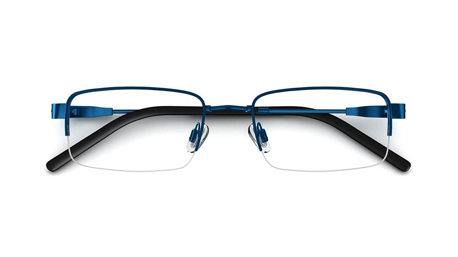Specsavers Men\'s Glasses FLEXI 35 | Blue Metal Frame £99 | Specsavers UK