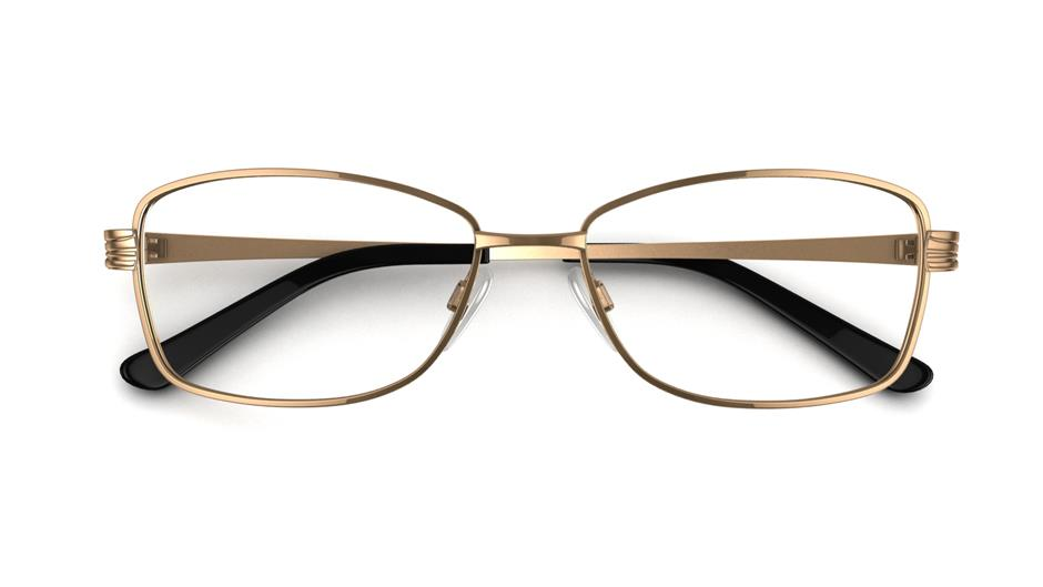Specsavers Women\'s Glasses LOREN | Gold Angular Metal Stainless ...