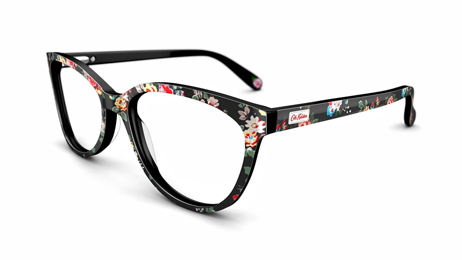 cath kidston women 39 s glasses cath kidston 01 black frame. Black Bedroom Furniture Sets. Home Design Ideas
