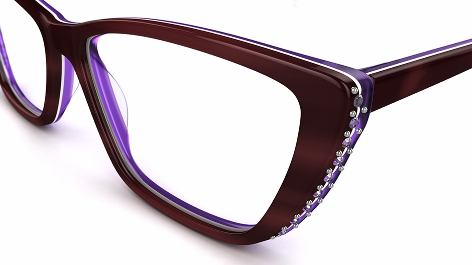 aurora-ametrine Glasses by Aurora